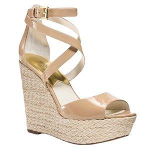 Michael Kors GABRIELLA Platform Wedge Sandals 8.5